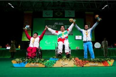 Iran's Paralympics weightlifting athlete wins gold medal in Rio