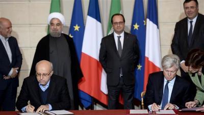 ایران و فرانسه ۲۰ قرارداد امضاء کردند