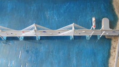 Longest Irã ponte para chegar Qeshm Ilha